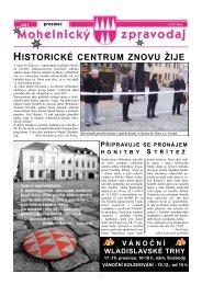 Mohelnický zpravodaj prosinec 2012 - Mohelnické kulturní centrum