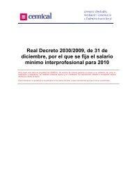 Real Decreto 2030/2009, de 31 de diciembre, por el que ... - cemical