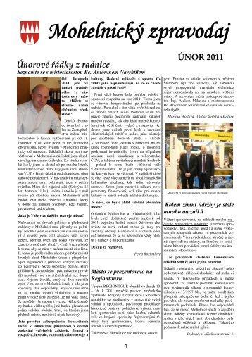 Mohelnický zpravodaj únor 2011 - Mohelnické kulturní centrum
