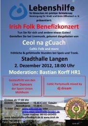 Irish Folk Benefizkonzert - Lebenshilfe Offenbach am Main
