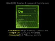 Gdes2000 Graphic Design and the Internet