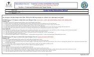 school improvement plan - Castor Valley Elementary School Council