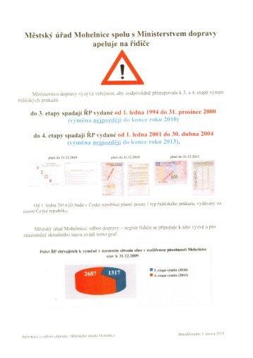 Výměna řidičských průkazů, do 31.12.2010