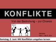 Mit Konflikten umgehen lernen - EFG Gedern & Limeshain
