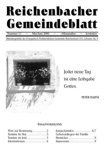 Nr. 13 Juli/August - bei der EFG Reichenbach