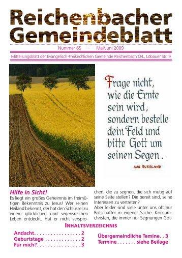 Nr. 65 Mai/Juni 09 - bei der EFG Reichenbach
