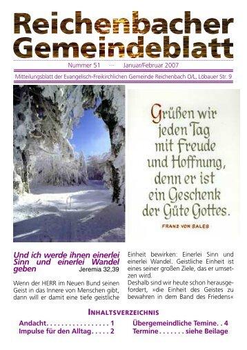 Nr. 51 Januar/Februar 07 - bei der EFG Reichenbach