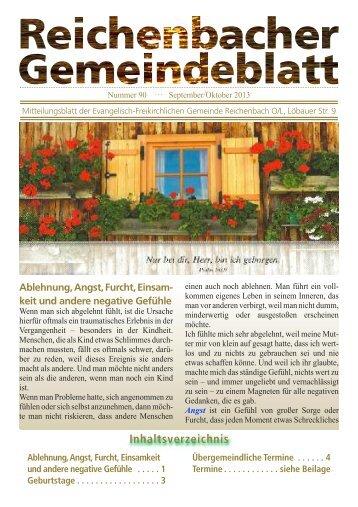 Nr 90 September/Oktober - bei der EFG Reichenbach