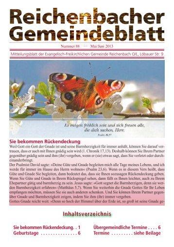 Nr. 88 Mai/Juni - bei der EFG Reichenbach