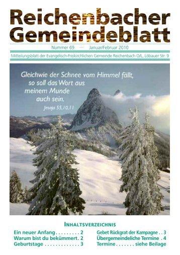 Nr. 69 Januar/Februar - bei der EFG Reichenbach