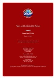 Katalog für Neuheiten: Whisky - und Getränke-Welt Weiser