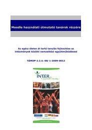 Moodle használati útmutató tanárok részére - inter-studium.hu