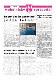 Krytý bazén opravíme j e š t ě l e t o s ! - Mohelnické kulturní centrum