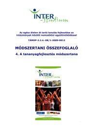 A tananyagfejlesztés módszertana - inter-studium.hu
