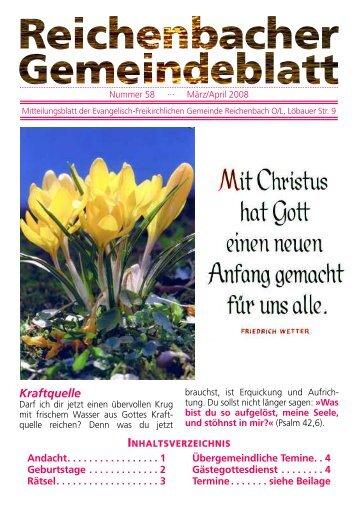 Nr. 58 März/April 08 - bei der EFG Reichenbach