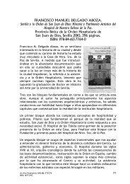FRANCISCO MANUEL DELGADO ABOZA. Sevilla y la Orden de ...