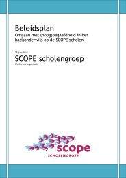 Beleidsplan hoogbegaafden SCOPE juni 2012