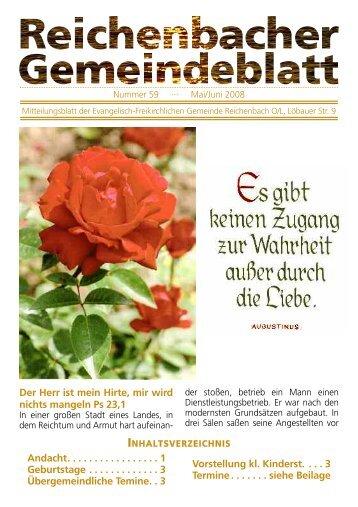 Nr. 59 Mai/Juni 08 - bei der EFG Reichenbach