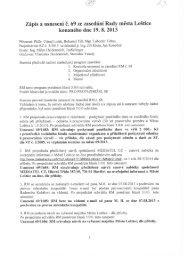 Zápis a usnesení RM č. 69 ze dne 19.8.2013 - Loštice