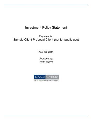 Investment Policy Notes  Notz Stucki