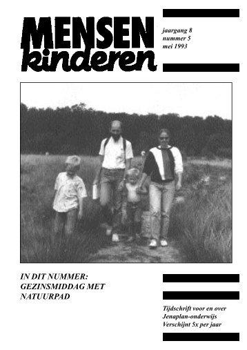 MK jrg. 8 nr. 5 - Nederlandse Jenaplanvereniging