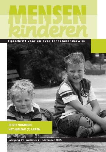 in dit nummer: het nieuwe (?) leren - Nederlandse Jenaplanvereniging