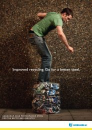 Improved recycling. Go for a better steel.