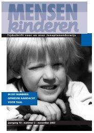 opnieuw aandacht voor taal - Nederlandse Jenaplanvereniging
