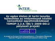 Módszertani összefoglaló és projektzáró kiadványt - inter-studium.hu