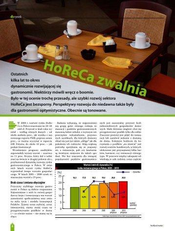 HoReCa zwalnia - Zofia Kobielska