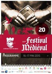 Programme festival médiéval  2015