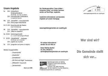 Wer sind wir? - Baptistengemeinde Nürnberg