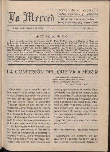 LA CONFESIÓN DEL QUE VA A MORIR - OdeMIH