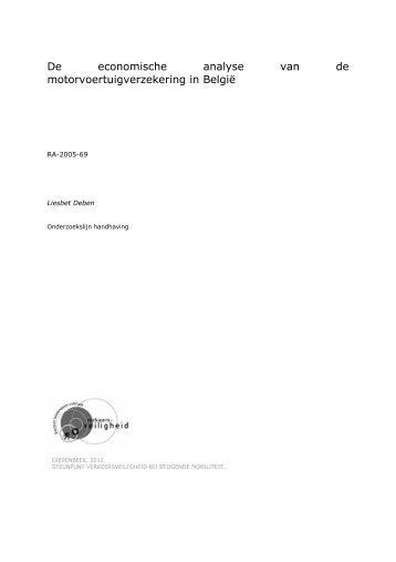 De economische analyse van de motorvoertuigverzekering in België