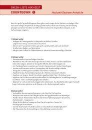 Checkliste für die Hochzeit herunterladen - Heiraten in Sachsen ...