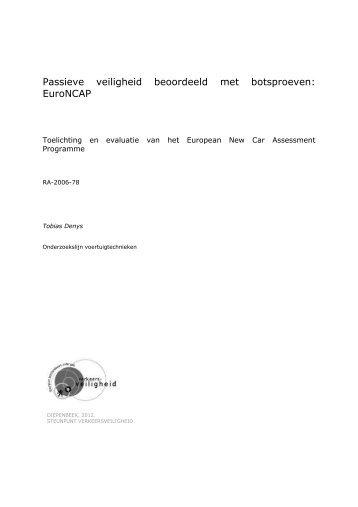 EuroNCAP - Steunpunt Verkeersveiligheid