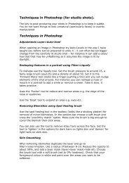 Studio photography & Photoshop