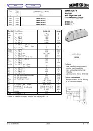 SEMIPACK® 1 Modules with Thyristor and Free-Wheeling Diode ...