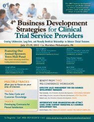 4th Business Development Strategies for Clinical Trial Service ...