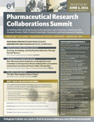 Pharmaceutical research collaborations summit - Engage. Inspire ...
