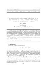 A.G.Kukush, Asymptotic normality of the estimator of an infinite ...