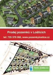 Prodej pozemků v Lošticích, lokalita Jevíčská - plakát ke stažení ve ...