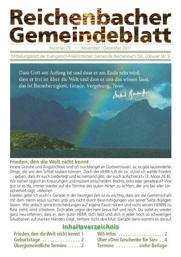 Nr. 79 November/Dezember - bei der EFG Reichenbach