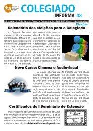 Colegiado Informa #48 - Faculdade de Comunicação e Artes - PUC ...