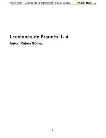 Lecciones de Francés 1- 4 - MailxMail