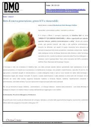 Rete di nuova generazione, green ICT e rinnovabili: - Valtellina S.p.A.