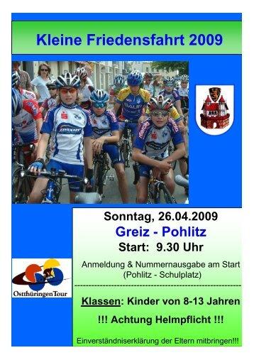 Sonntag, 26.04.2009 Greiz - Pohlitz Start