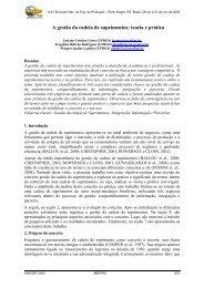 A gestão da cadeia de suprimentos: teoria e prática - Latec