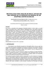 metodologia para análise de risco: estudo em uma ... - Latec - UFF