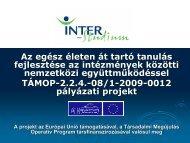 előadást a közlekedési szakmákról és a program során kifejlesztett ...